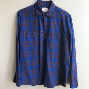 Brooks Brothers Men's Button-Down 100% Wool Large